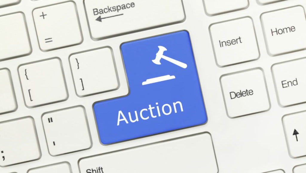 online auction or advertising