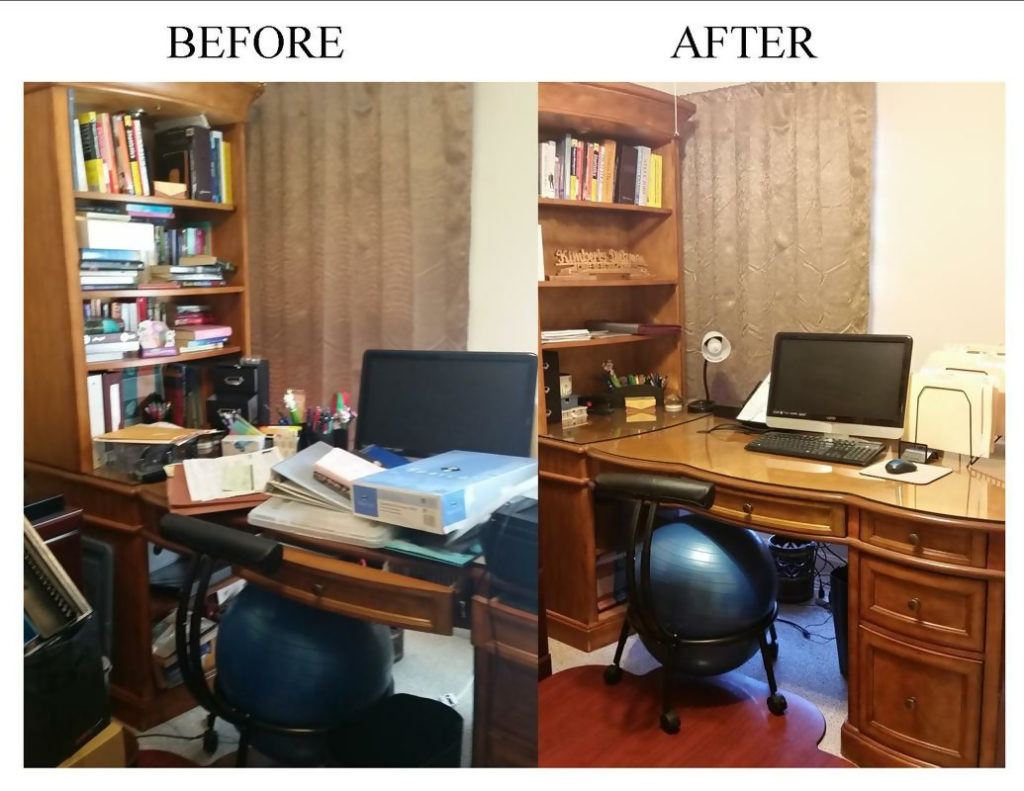 professional organizers work before and after